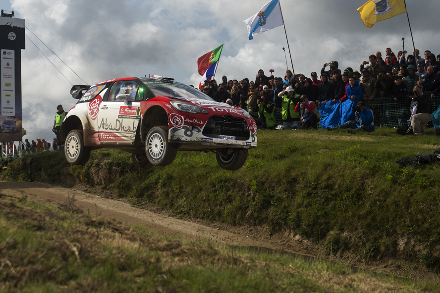 Kris Meeke (GBR) performs during FIA World Rally Championship 2016 Portugal in Porto, Portugal on May 22, 2016