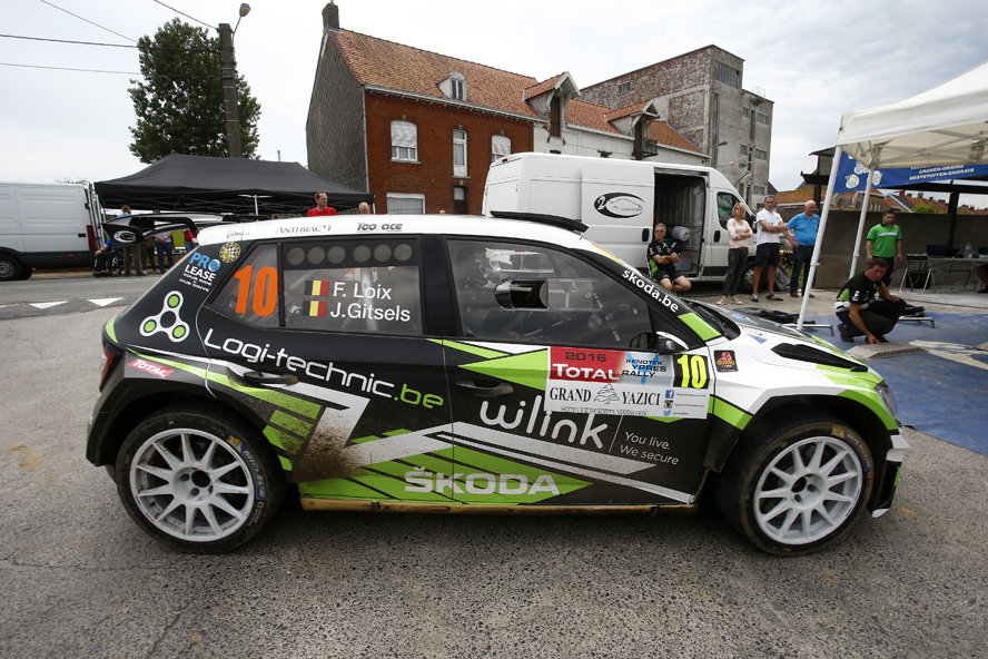 10 LOIX Freddy and GITSELS Johan SKODA Fabia R5 action during the 2016 European Rally Championship ERC Ypres Rally,  from June 23 to 25  at Ypres, Belgium - Photo Gregory Lenormand / DPPI