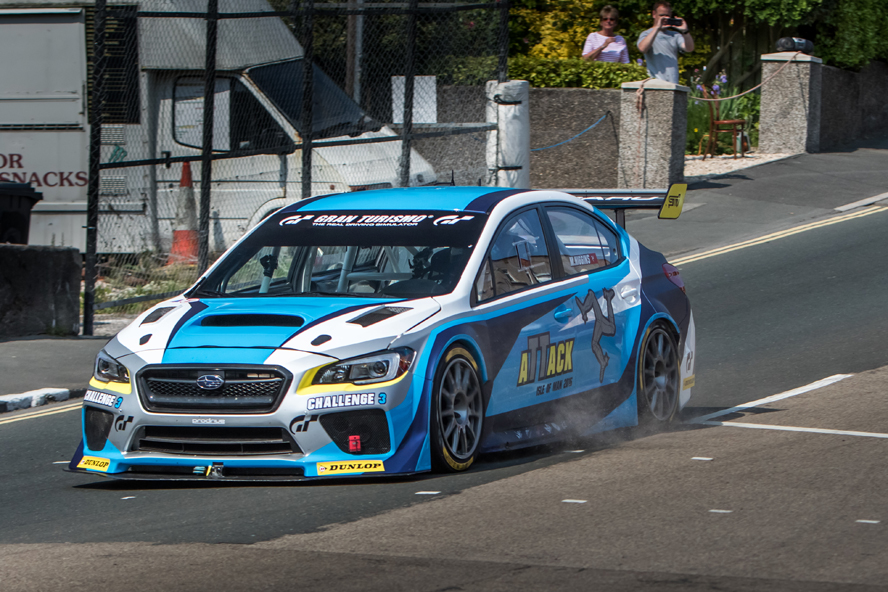 NEW SUBARU WRX STI TIME ATTACK CAR SHATTERS LAP RECORD AT ISLE OF MAN TT COURSE