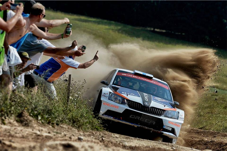 WRC 2: SUNINEN GIVES ŠKODA ITS FIFTH CONSECUTIVE WIN