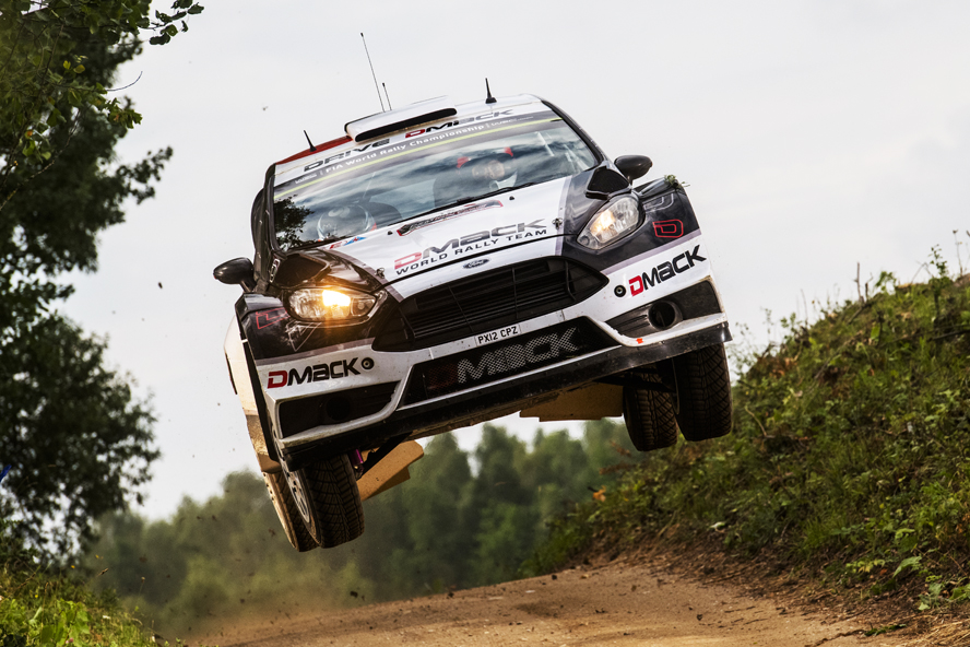 Ott Tanak (EST)  performs during  FIA World Rally Championship 2016 Poland in Mikolajki, Poland on July 1, 2016