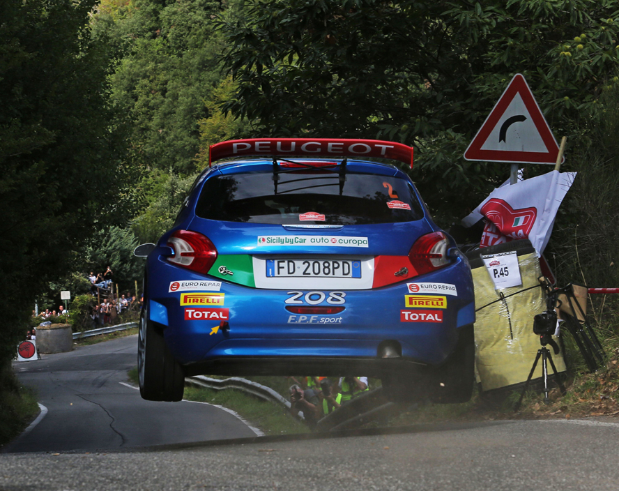 PAOLO ANDREUCCI ANNA ANDREUSSI AND PEUGEOT 208 T16 R5 LEAD DAY ONE OF THE 4TH RALLY ROMA CAPITALE
