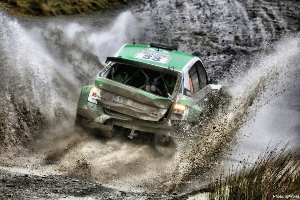EXCELLENT START: ŠKODA WORKS DRIVER LAPPI TAKES THE OVERALL LEAD IN GREAT BRITAIN
