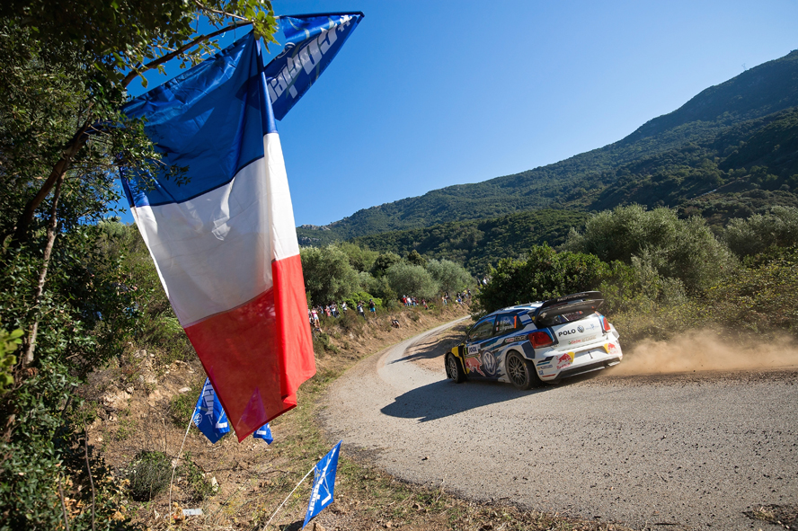 STILL LEADING THE WAY ON HOME SOIL – VOLKSWAGEN DUO OGIER/INGRASSIA MAINTAIN THEIR LEAD IN FRANCE