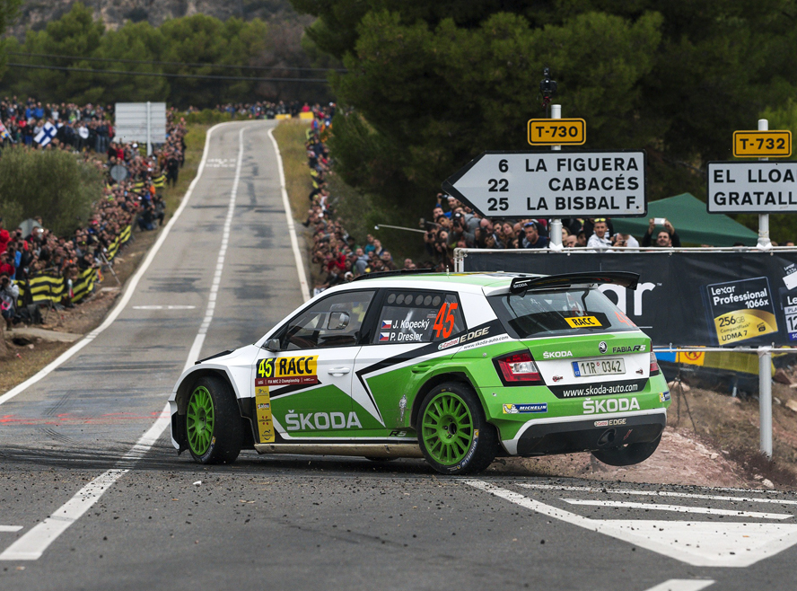 WRC 2: ŠKODA SHOWDOWN AT THE RALLY SPAIN HERALDS CRUCIAL PHASE OF TITLE RACE