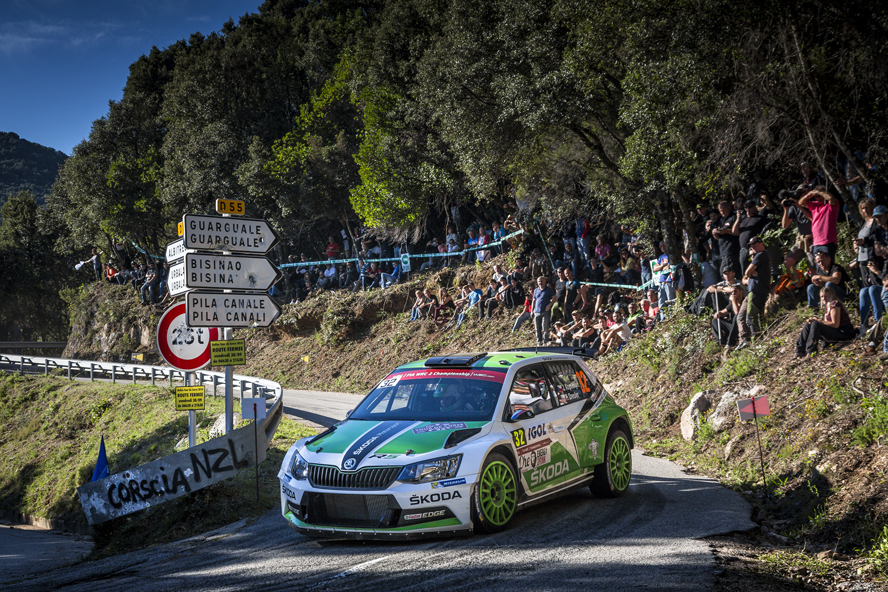 RALLY FRANCE: ŠKODA  DRIVER KOPECKÝ BATTLING FOR THE LEAD IN WRC 2