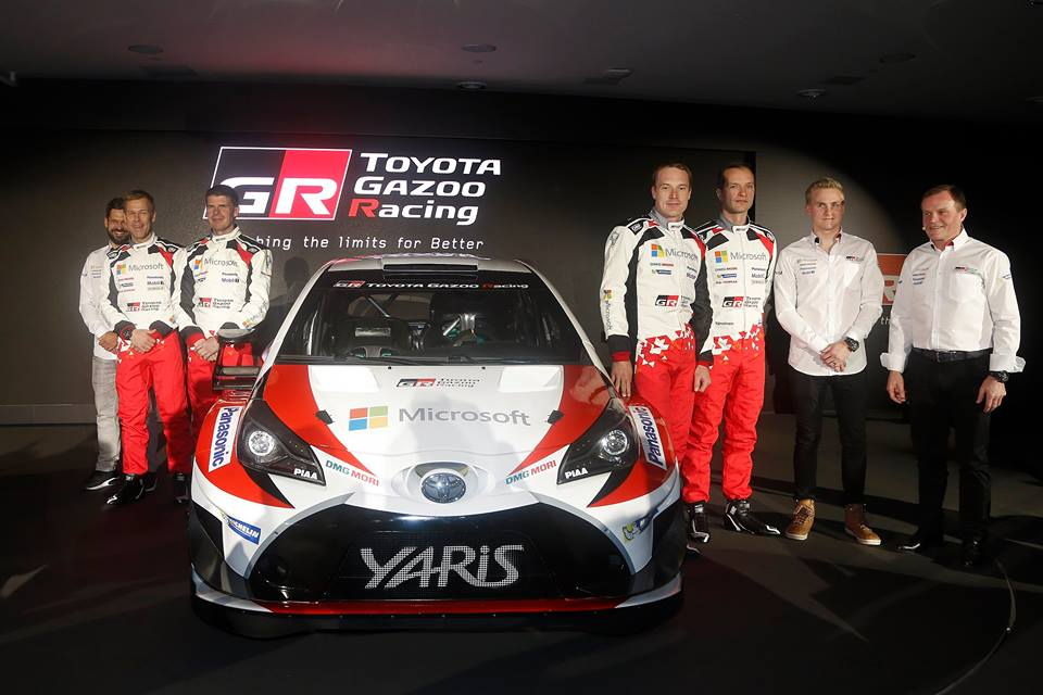 TOYOTA GAZOO RACING WRC EAGER TO GET STARTED REVEALED THE TOYOTA YARIS WRC AND DRIVERS FOR 2017 SEASON