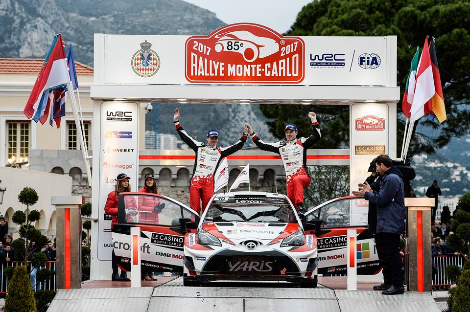 LATVALA SECOND ON RALLYE MONTE-CARLO AS TOYOTA GAZOO RACING MAKES ITS DEBUT