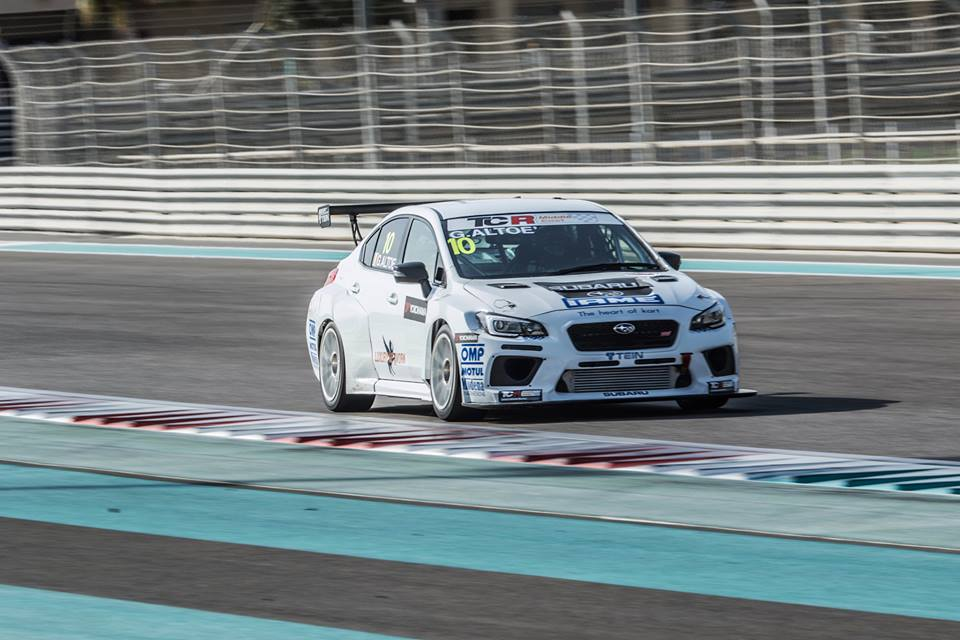 THE TOP RUN SUBARU WITH GIACOMO ALTOÈ IN YAS MARINA CIRCUIT, THIRD IN THE OFFICIAL CLASSIFICATION