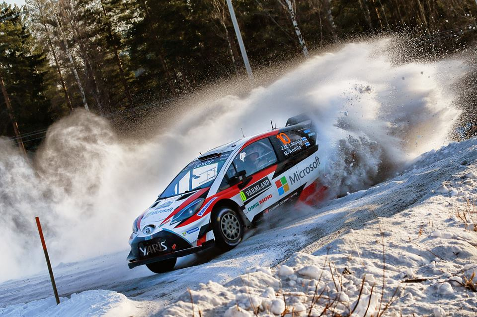 LATVALA IN FIRST PLACE WITH ONE DAY OF RALLY SWEDEN REMAINING