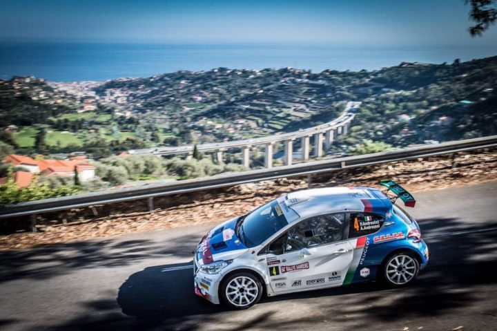 64° RALLYE SANREMO PAOLO ANDREUCCI AND ANNA ANDREUSSI, PEUGEOT 208 T16 R5 END DAY ONE ON TOP