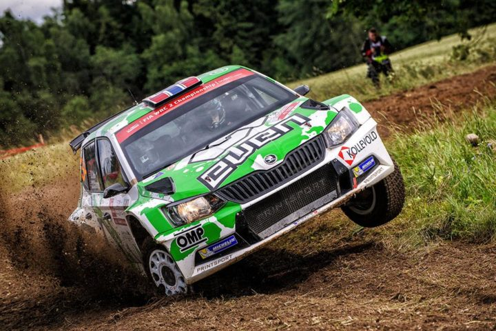 ŠKODA DOMINATING WRC 2 WITH OLE CHRISTIAN VEIBY LEADING PONTUS TIDEMAND