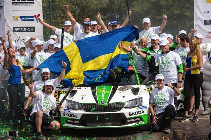 PONTUS TIDEMAND AND ŠKODA ON TRACK FOR WINNING BOTH WRC 2 TITLES