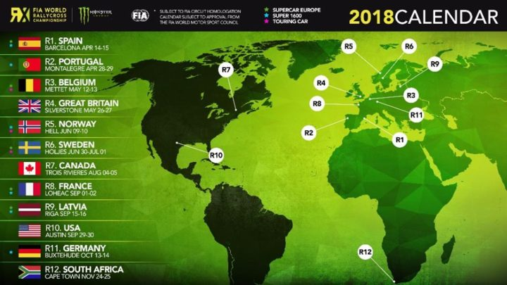 WORLD RX ANNOUNCES 2018 CALENDAR: NEW EVENTS AT SILVERSTONE AND COTA