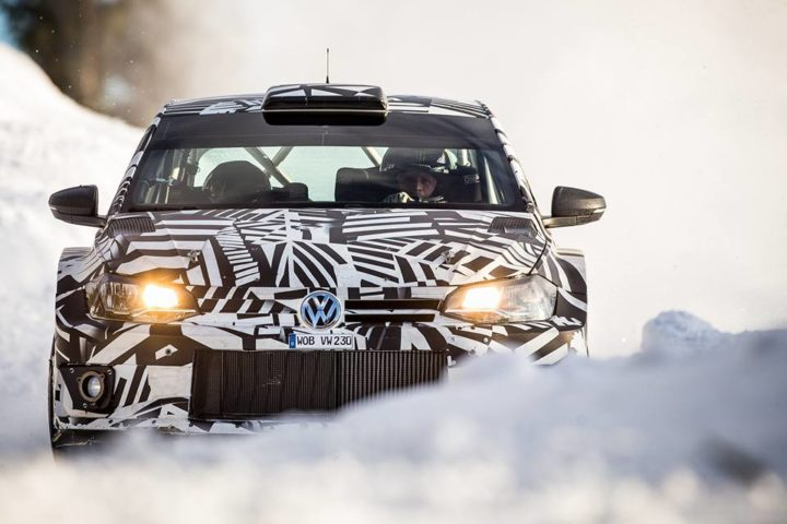 WORLD RALLY CHAMPIONS TEST THE POLO GTI R5 IN SWEDEN