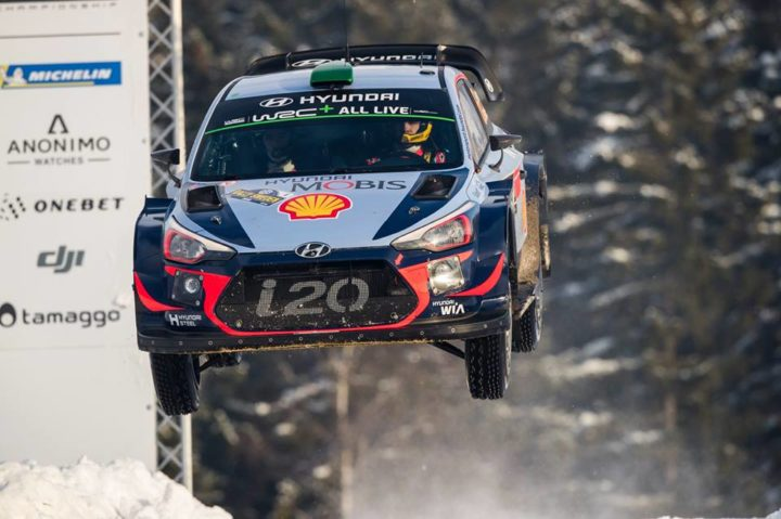 HYUNDAI MOTORSPORT HAS EXTENDED ITS LEAD OF RALLY SWEDEN