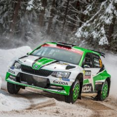 ŠKODA MOTORSPORT FIGHTING FOR VICTORY WITH PONTUS TIDEMAND AND O.C,VEIBY