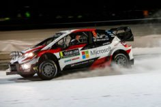 TOYOTA THE EARLY LEADER AS RALLY SWEDEN BEGINS