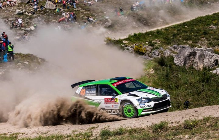 RALLY PORTUGAL: ŠKODA DRIVERS PONTUS TIDEMAND AND JUUSO NORDGREN DELAYED BY PUNCTURES