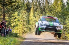 NESTE RALLY FINLAND: KALLE ROVANPERÄ AND ŠKODA LEADING WRC 2, O.C. VEIBY FIGHTING FOR PODIUM