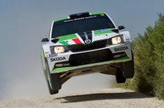 UMBERTO SCANDOLA AND GUIDO D'AMORE, ŠKODA FABIA R5, END DAY ONE OF THE 23RD RALLY ADRIATICO ON TOP