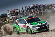 TOP PERFORMANCE GIVES ŠKODA DRIVER TIDEMAND THE LEAD AT THE WORLD CHAMPIONSHIP RALLY IN PORTUGAL