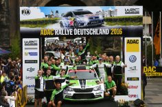 RUN OF SUCCESS CONTINUES: ŠKODA CELEBRATES ONE-TWO-THREE-FOUR RESULTS AT THE RALLY GERMANY