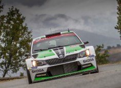 FIA WORLD RALLY CHAMPIONSHIP (WRC2 – 2015):  ŠKODA MOTORSPORT – ŠKODA DRIVER LAPPI ENDS WEATHER -DOMINATED OPENING DAY IN THIRD PLACE ON CORSICA